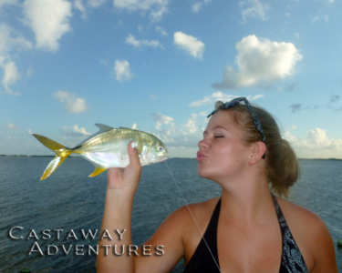 Family fishing Cocoa Beach with Cast Away Adventures