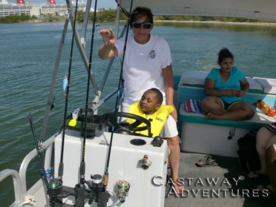 Kids love boating with Cast Away Adventures in Cocoa Beach