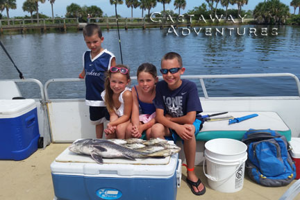 Family fishing Cocoa Beach, Florida