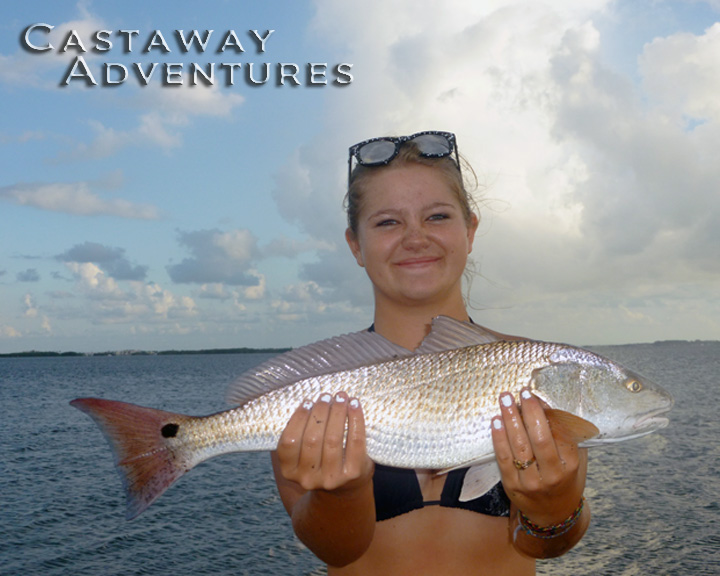 Red fish in Cocoa Beach with Cast Away Adventures