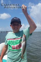 Kids love fishing in Cocoa beach Florida