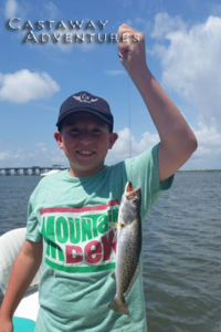 Kids love fishing in Cocoa beach Florida